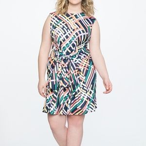 Eloquii Tie Waist Easy Dress